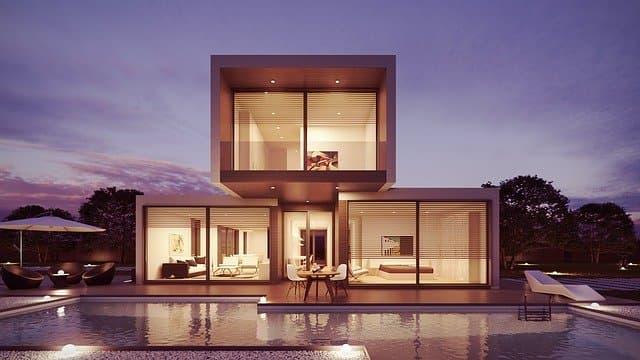 grandes baies vitrée pour une maison d'archi
